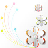 White Paper Flower on Colorful background Royalty Free Stock Images
