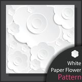 White Paper Flower Pattern - Vector. White Paper Flower Pattern for decoration artwork  - Vector Stock Photography