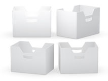 White paper folder box with clipping path Royalty Free Stock Image