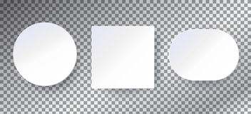 White paper frames backgrounds set template Royalty Free Stock Images