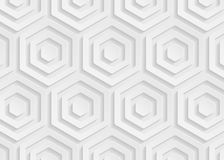 White paper geometric pattern, abstract background template for website, banner, business card, invitation Stock Photos