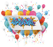 White Paper Graffiti Balloons Royalty Free Stock Photo