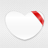 White paper heart Royalty Free Stock Photos