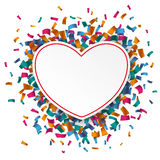 White Paper Heart Confetti Stock Images