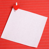White paper with heart shape clip Stock Images