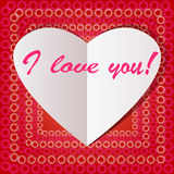 White paper heart Valentins day Stock Photos