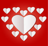 White paper heart Valentins day Royalty Free Stock Photography