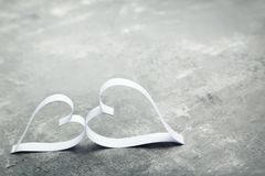 White paper hearts Stock Images
