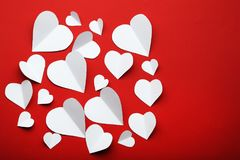 White paper hearts Royalty Free Stock Photography