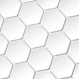 White Paper Hexagon Labels Stock Photos