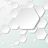 White Paper Hexagon Labels Royalty Free Stock Photography