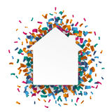 White Paper House Confetti Royalty Free Stock Photo