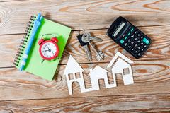 White paper house figure. Stock Images