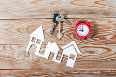 White paper house figure. Royalty Free Stock Image