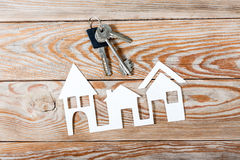 White paper house figure. Stock Photography