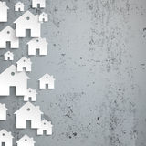 White Paper Houses Side Concrete Royalty Free Stock Photo