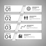 White Paper Infographic Option Background Royalty Free Stock Photos