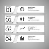 White Paper Infographic Option Background Royalty Free Stock Photo