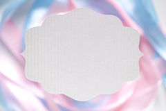 White paper label on abstract background Stock Photo