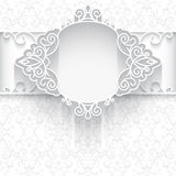 White paper lace background Royalty Free Stock Photo
