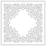 White paper lace frame Stock Photography