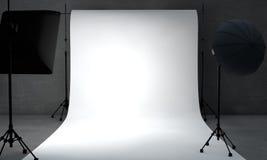 White paper limbo. By lighting equipment Stock Image