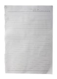White paper with lines texture Royalty Free Stock Photography