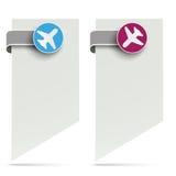 White Paper Marker Jet Labels Arrival Departure. White paper markers with jet labels on the white background Stock Image