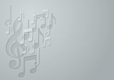 White Paper Music Note background Royalty Free Stock Photo