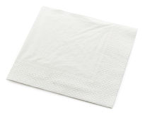 White paper napkin Stock Images