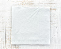 White paper napkin Royalty Free Stock Photography