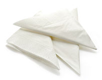 White paper napkins Royalty Free Stock Photos