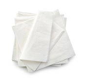 White paper napkins Stock Photography