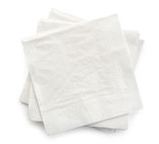 White paper napkins Stock Images