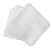 White paper napkins Stock Photo