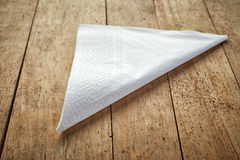 White paper napkins Royalty Free Stock Images