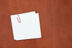 White paper note with a clip Stock Photography