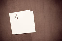 White paper note with a clip Royalty Free Stock Images