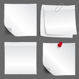 White paper note set Royalty Free Stock Images