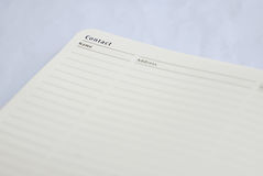 White Paper Notebook Royalty Free Stock Photography
