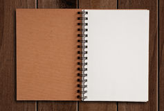 White paper notebook. Stock Images