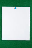 White paper notice board. Stock Photography