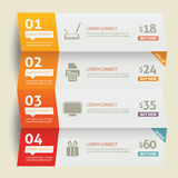 White paper numbered banners Stock Image