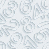 White paper numbers seamless background. White paper with outline extrude effect. Abstract 3d seamless background. Halftone EPS10 royalty free illustration