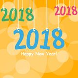 2018 White Paper Origami card or background.Happy New Year. Merry Christmas. Vector illustration. 2018 White Paper Origami card or background.Happy New Year Stock Photography