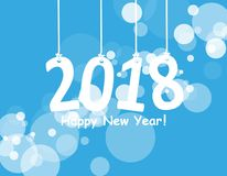 2018 White Paper Origami card or background.Happy New Year. Merry Christmas. Vector illustration. 2018 White Paper Origami card or background.Happy New Year Royalty Free Stock Photos