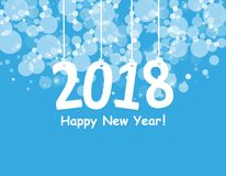 2018 White Paper Origami card or background.Happy New Year. Merry Christmas. Vector illustration. 2018 White Paper Origami card or background.Happy New Year Stock Image
