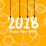2018 White Paper Origami card or background.Happy New Year. Merry Christmas. Vector illustration. 2018 White Paper Origami card or background.Happy New Year Royalty Free Stock Image