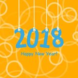 2018 White Paper Origami card or background.Happy New Year. Merry Christmas. Vector illustration. 2018 White Paper Origami card or background.Happy New Year Royalty Free Stock Images