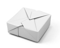 White paper packaging Stock Image